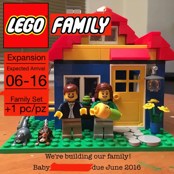 LEGO Baby Announcement