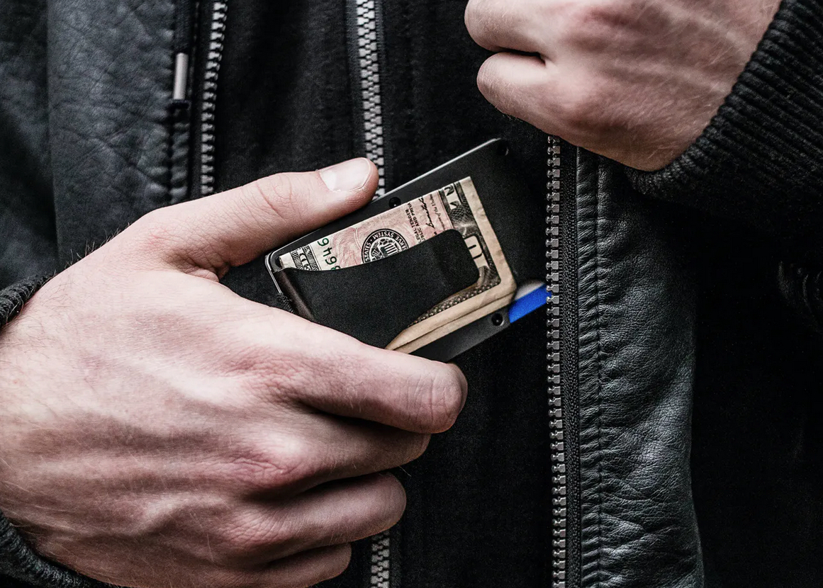 The Ridge Aluminum Wallet + Money Clip 2